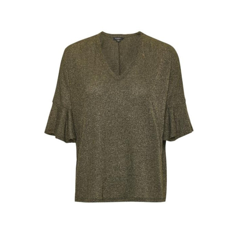 Soaked in Luxury Andie Top Gold W. Black Foran