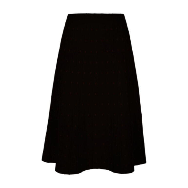 Freequent Cloe Long Skirt Solid Black Foran