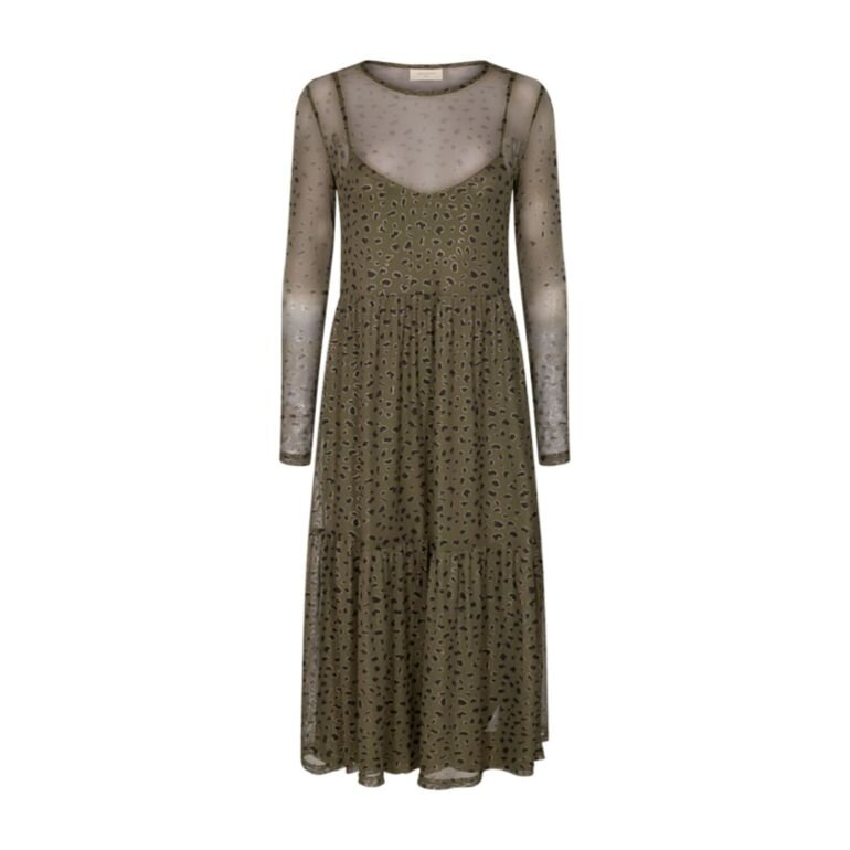 Freequent Ferona Dress Olive Night Mix Foran