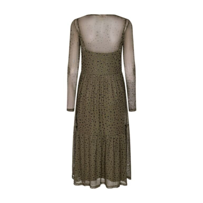 Freequent Ferona Dress Olive Night Mix Bagpå