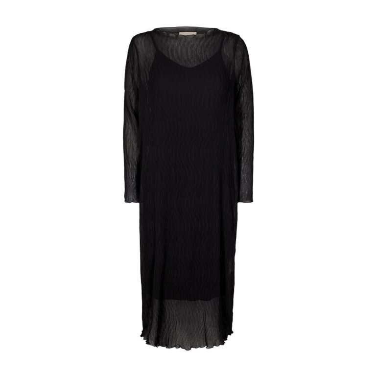 Freequent Edelyn L Dress Black Solid Foran
