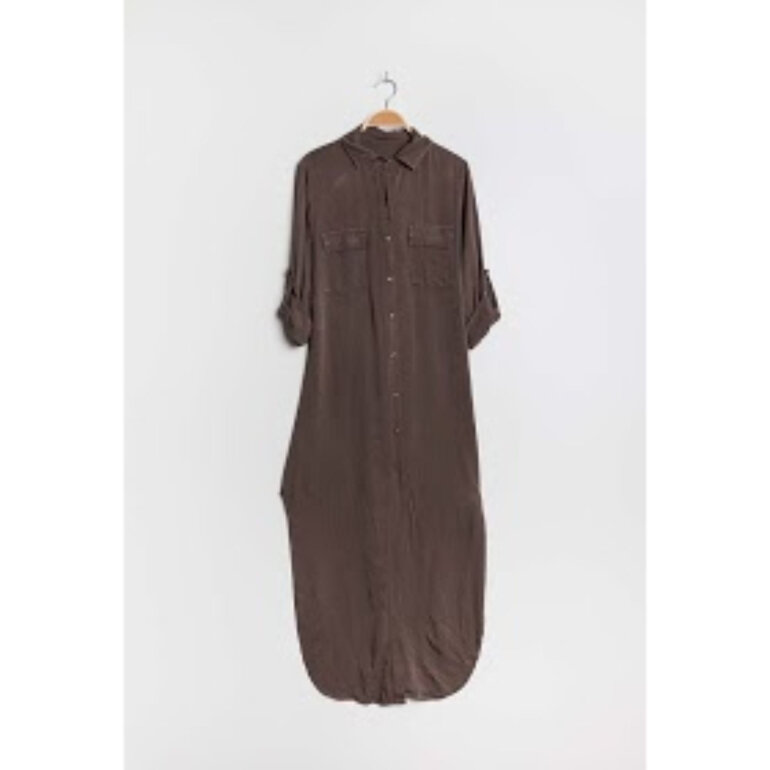 Italy Style 6380 Long Shirtdress Brown