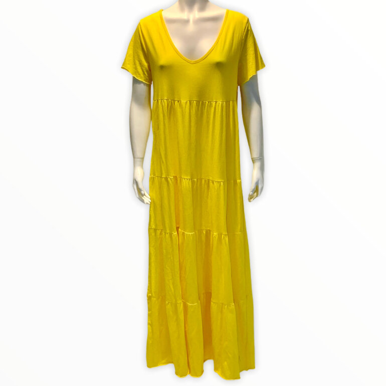 Italy Style 19476 Maxi Dress Yellow fra ladenblokhus.dk